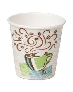 Dixie® Hot Cups, Paper, 10Oz, Coffee Dreams Design, 500/Carton
