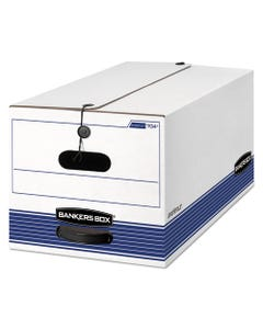 """Bankers Box® Stor/File Medium-Duty Strength Storage Boxes, Letter Files, 12"""" X 24.13"""" X 10.25"""", White, 20/Carton"""
