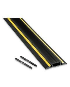 "D-Line® Medium-Duty Floor Cable Cover, 3.25"" Wide X 30 Ft Long, Black"