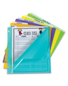 C-Line® Index Dividers With Vertical Tab, 5-Tab, 11.5 X 10, Assorted, 1 Set