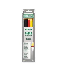 Dixon® China Marker, Assorted, 5/Set