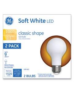 GE Classic Led Soft White Non-Dim A21, 13 W, 2/Pack