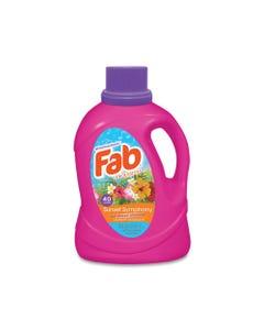 Fab® Laundry Detergent Liquid, Sunset Symphony (Sun Kissed Blossoms), 40 Loads, 60 Oz Bottle, 6/Carton
