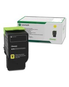Lexmark™ 78C10Y0 Return Program Toner, 1400 Page-Yield, Yellow