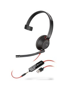 poly® Blackwire 5210, Monaural, Over The Head Headset