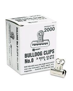 X-ACTO® Bulldog Clips, Mini, Nickel-Plated, 36/Box