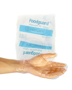 Food Guard Food Handler Poly Glove, Small, USDA Approved, 200/CS