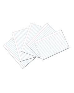 "Ruled Index Card, 5""x8"", White, 100/PK"