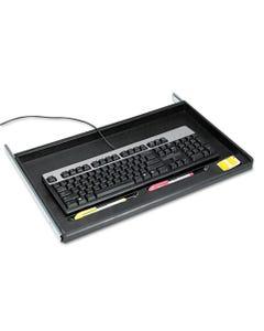 "Innovera® Standard Underdesk Keyboard Drawer, 21.38""W X 12.88""D, Black"