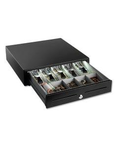 "SteelMaster® High-Security Cash Drawer, 4 1/4"" X 16 3/8"" X 16 1/8"", Plastic; Steel, Black"
