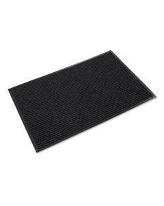 Crown Needle Rib Wipe And Scrape Mat, Polypropylene, 36 X 60, Charcoal