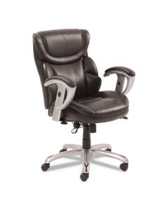 SertaPedic® Emerson Task Chair, Supports Up To 300 Lbs., Brown Seat/Brown Back, Silver Base