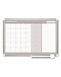 MasterVision® Monthly Planner, 36X24, Silver Frame