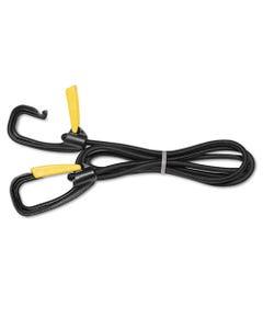 """Kantek Bungee Cord W/Locking Clasp, Black, 72"""""""