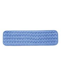 "Hygen™ Microfiber Wet Pad, 18"", Blue, 12/CS"