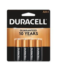 Duracell® Coppertop Alkaline Aa Batteries, 4/Pack