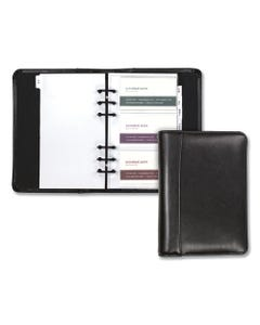 Samsill® Regal Leather Business Card Binder, 120 Card Capacity, 2 X 3 1/2 Cards, Black