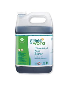 Green Works® Glass Cleaner Concentrate, Light Citrus, 1Gal Bottle, 2/Carton