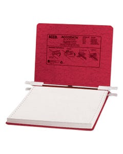 """ACCO Presstex Covers With Storage Hooks, 2 Posts, 6"""" Capacity, 9.5 X 11, Executive Red"""