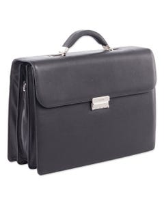 "Swiss Mobility Milestone Briefcase, Holds Laptops 15.6"", 5"" X 5"" X 12"", Black"
