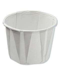 Konie® Paper Souffle Portion Cups, 0.75 Oz, White, 250/Sleeve, 20 Sleeves/Carton