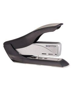 Bostitch® Spring-Powered Premium Heavy-Duty Stapler, 65-Sheet Capacity, Black/Silver