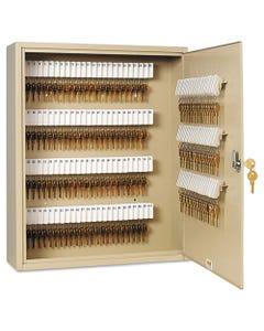 SteelMaster® Uni-Tag Key Cabinet, 160-Key, Steel, Sand, 16 1/2 X 4 7/8 X 20 1/8