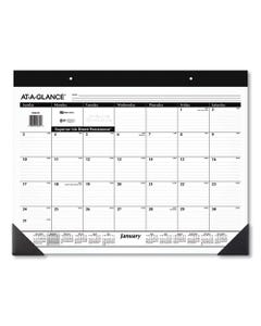 AT-A-GLANCE® Monthly Refillable Desk Pad, 22 X 17, White, 2021