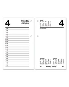AT-A-GLANCE® Desk Calendar Refill With Tabs, 6 X 3.5, White, 2021