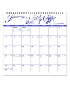 AT-A-GLANCE® 12-Month Illustrator'S Edition Wall Calendar, 12 X 12, Illustrations, 2021