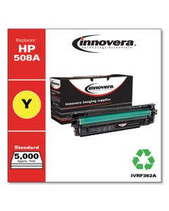 Innovera® Remanufactured Yellow Toner, Replacement For Hp 508A (Cf362A), 5,000 Page-Yield