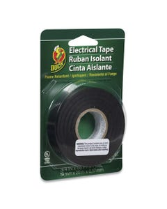 """Duck® Pro Electrical Tape, 1"""" Core, 0.75"""" X 66 Ft, Black"""
