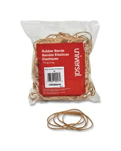 "Universal® Rubber Bands, Size 18, 0.04"" Gauge, Beige, 4 Oz Box, 400/Pack"