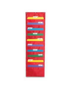 Carson-Dellosa Education Storage Pocket Chart With Ten 13.5 X 7 Pockets, Hanger Grommets, 14 X 47