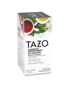 Tazo® Assorted Tea Bags, Three Each Flavor, 24/Box