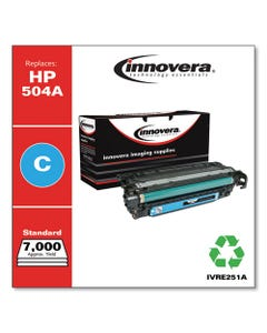 Innovera® Remanufactured Cyan Toner, Replacement For Hp 504A (Ce251A), 7,000 Page-Yield
