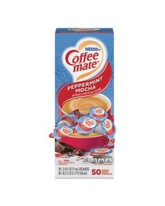 Coffee mate® Liquid Coffee Creamer, Peppermint Mocha, 0.38 Oz Mini Cups, 50/Box