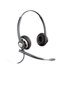 poly® Encorepro Premium Binaural Over-The-Head Headset With Noise Canceling Microphone
