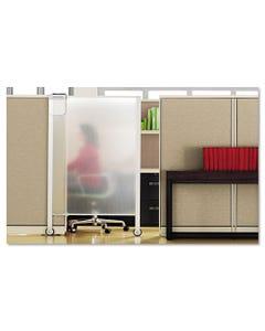 Quartet® Premium Workstation Privacy Screen, 38W X 64D, Translucent Clear/Silver