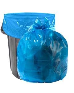 "Aluf Plastics 20-30 Gallon 1.2 MIL Blue Industrial Strength Trash Bags - 30"" x 36"" - Pack of 200"