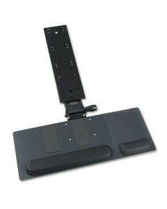 Ergo-Comfort Articulating Keyboard/mouse Platform, 28w X 11-3/4d, Black Granite