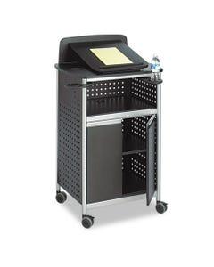 Safco® Scoot Multipurpose Lectern, 28.75W X 22D X 49.75H, Black/Silver