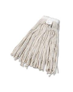 Boardwalk® Cut-End Wet Mop Head, Cotton, No. 24, White