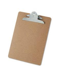 "Universal® Hardboard Clipboard, 1"" Capacity, Holds 8 1/2 X 11, Brown"