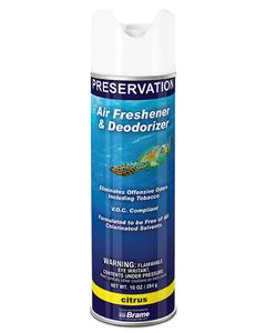 PRESERVATION Brand Aerosol Deodorant, Citrus, 10OZ, 12/CS