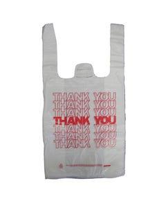 """Thank You"" Pre-Printed Poly T-Sack Shopping Bag, White, 8""x4""x16"", 2000/CS"