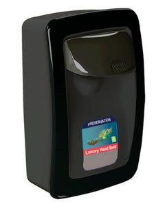 PRESERVATION Brand Designer Series Foam Wall Sanitizer Dispenser, Black, Manual, For 1000mL Refill Bags