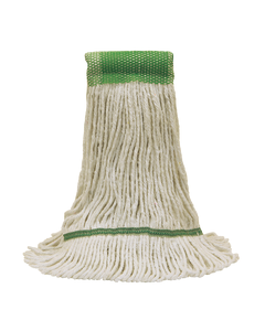 PRESERVATION Brand Cotton/Synthetic Mop Head, Natural, 16OZ, 4-Ply