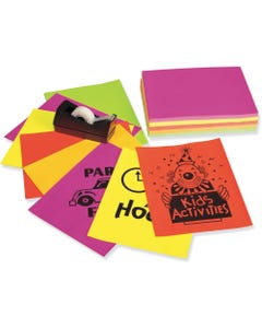 """Pacon Laser Print Bond Paper - Letter - 8.50"""" x 11"""" - 24 lb Basis Weight - 250 Sheets/Pack - Bond Paper - 5 Assorted Neon Colors"""