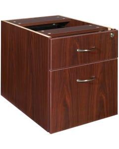 "Lorell Essentials Pedestal - 2-Drawer - 15.5"" x 21.9"" x 18.9"" - 2 x Box Drawer(s), File Drawer(s) - Double Pedestal - Finish: Laminate, Mahogany"